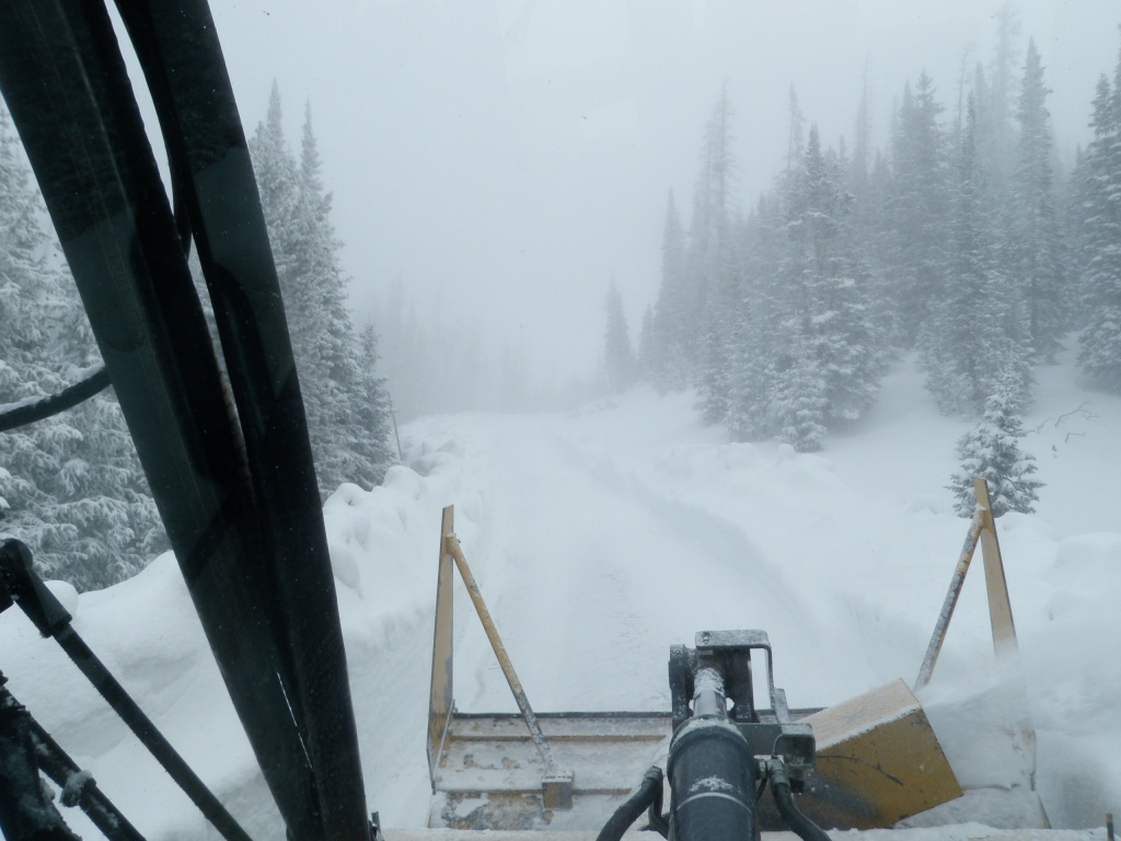 Trail Ridge Road Snowplowing